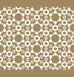 golden hexagons seamless pattern abstract vector image