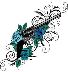 guns on the flower vector image