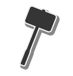 hammer medieval weapon vector image