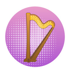 harp icon ancient music instrument concept vector image