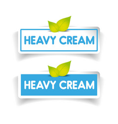 Heavy cream label vector
