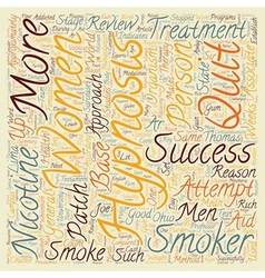 Hypnosis Helps Men Quit text background wordcloud vector image