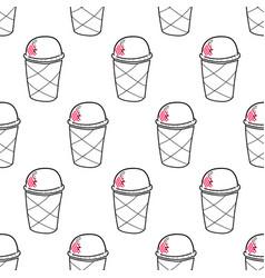 Ice cream easy pattern linear-01 vector