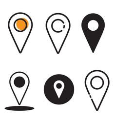 icon location bundle vector image