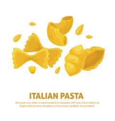 italian pasta cuisine poster vector image