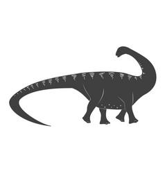 Little apatosaurus cartoon bajurassic period vector