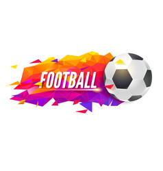 logo for football teams or tournaments vector image