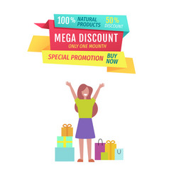 Mega discount this month offer vector