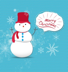 Merry Christmas with snowman vector