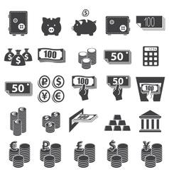 Money set icon vector image