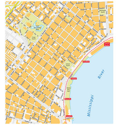 new orleans french quarter street map vector image