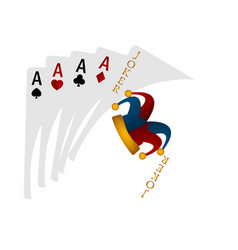 Poker cards image vector