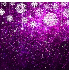 Purple christmas background EPS 8 vector image