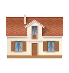 residential house facade vector image