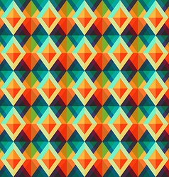 retro rhombus seamless pattern vector image