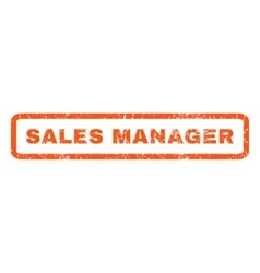 Sales Manager Rubber Stamp vector