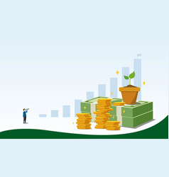 saving money to investment concept design vector image