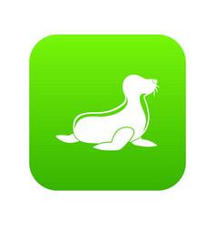 seal icon green vector image