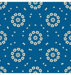 Seamless blue background with abstract oriental vector image