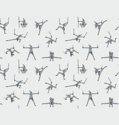 seamless pattern of ninja vector image