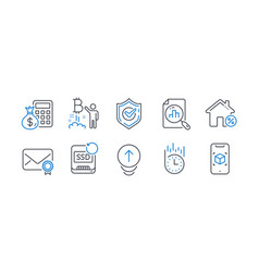 Set technology icons such as confirmed loan vector