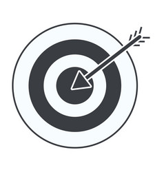 shooting target cartoon vector image
