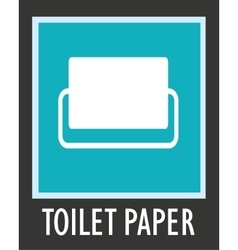 Simple icon toilet paper vector