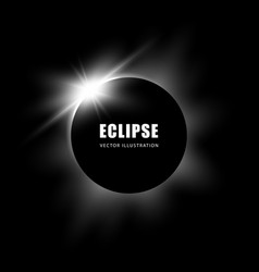 solar eclipse black and white background vector image