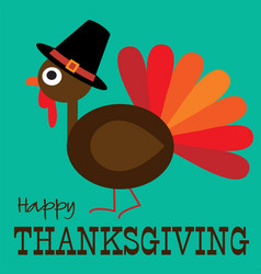 Thanksgiving cute turkey profile graphic vector