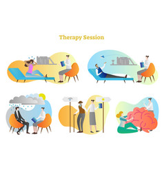 therapy session collection set vector image