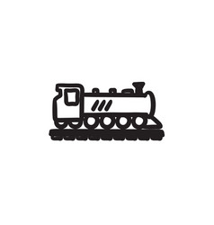 Train sketch icon vector