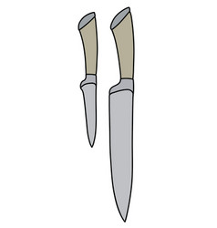 two kitchen knives vector image
