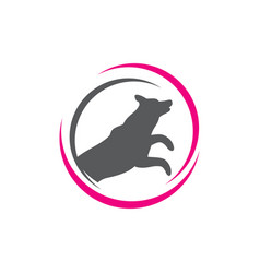 Veterinary clinic logo silhouette dog and vector