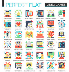 Video games console game complex flat icon vector