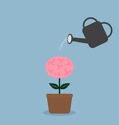 watering brain plant vector image