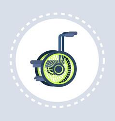 wheelchair icon healthcare medical service vector image