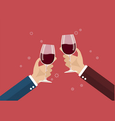 businessmen toasting a wine glasses vector image vector image
