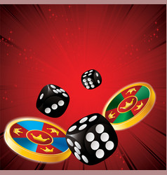 casino chips dice vector image