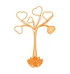 heart tree love vector image vector image