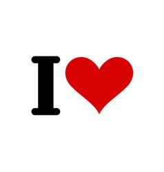 i love template heart symbol of love romantic vector image