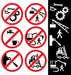 icons for safety vector image vector image