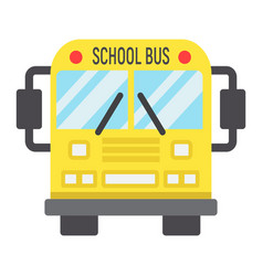school bus flat icon transport and vehicle vector image vector image