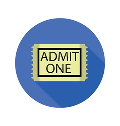 ticket icon vector image