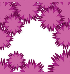 Beautiful flowers decoration background vector