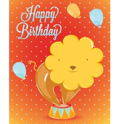 Birthday card lion vector image