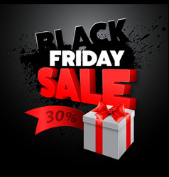 Black Friday gift box vector image