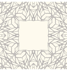 Mosaic square ornamental frame abstract background vector image
