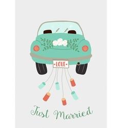 Wedding car vector
