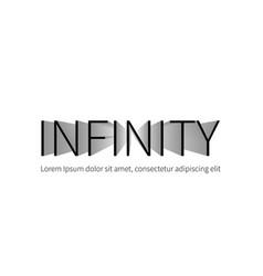 infinity logotype isolated on white background vector image vector image