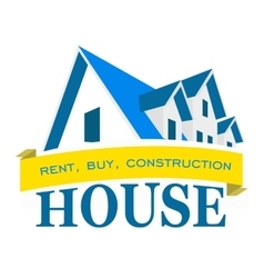 Logo house Rental sales and construction vector image vector image